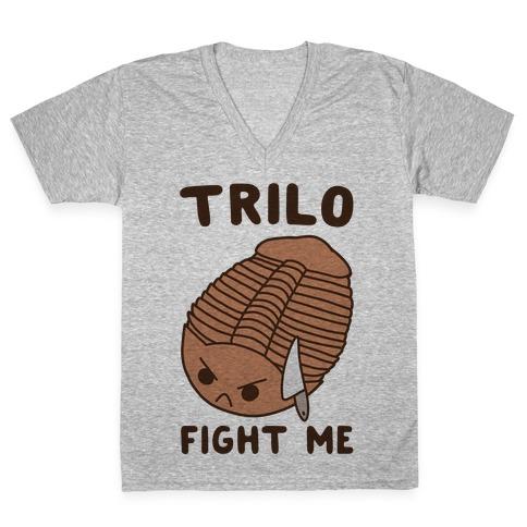 Trilo-Fight Me V-Neck Tee Shirt