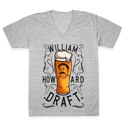 William Howard Draft Beer V-Neck Tee Shirt
