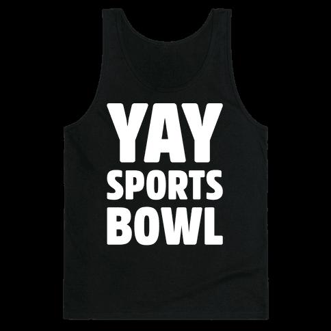 Yay Sports Bowl White Print Tank Top