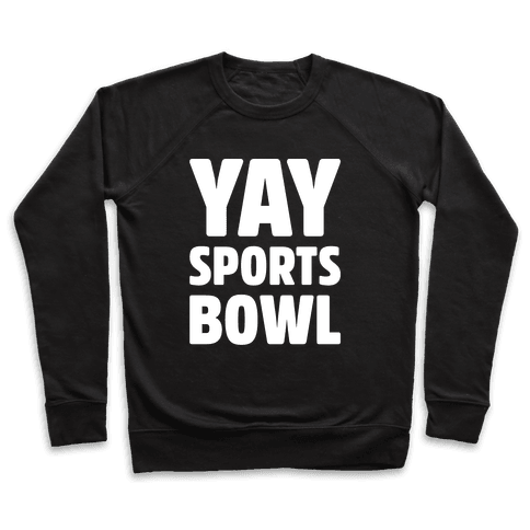 Yay Sports Bowl White Print Pullover