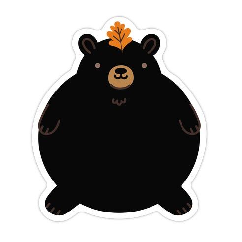 Round Bears Die Cut Sticker