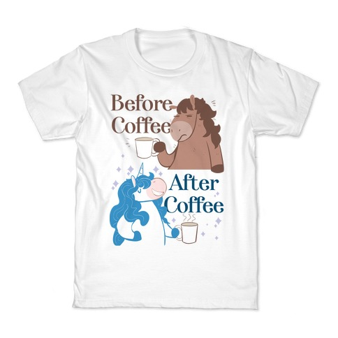 Before Coffee and After Coffee Kids T-Shirt