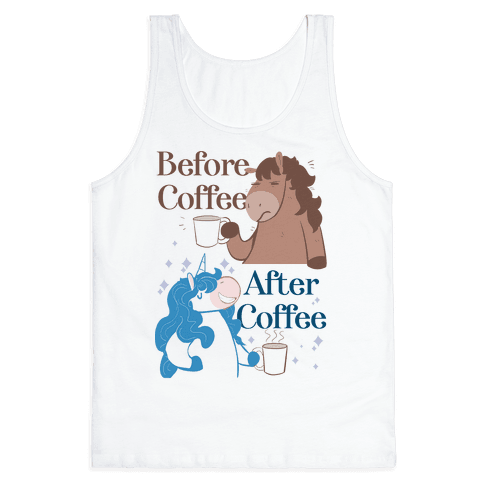 Before Coffee and After Coffee Tank Top