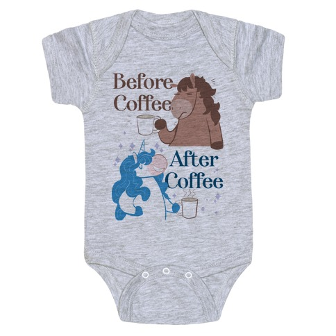 Before Coffee and After Coffee Baby Onesy