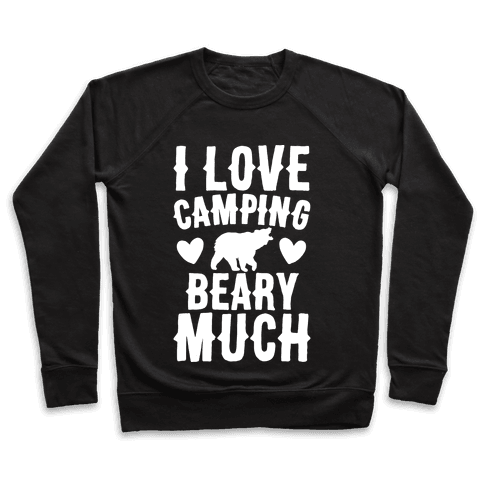 I Love Camping Beary Much White Print