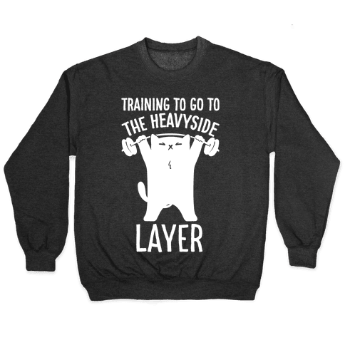 Training To Go To The Heavyside Layer Parody White Print Pullover