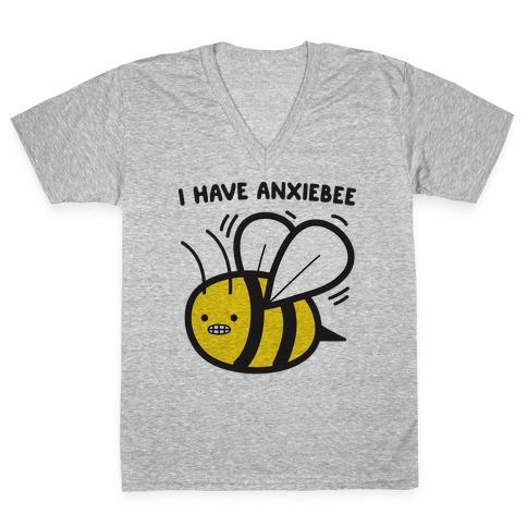 I Have Anxiebee Bee V-Neck Tee Shirt