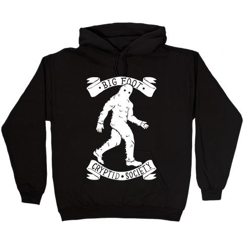 Big Foot Cryptid Society Hooded Sweatshirt