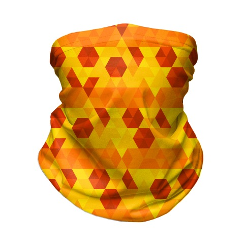 Geometric Pizza Tessellation Neck Gaiter