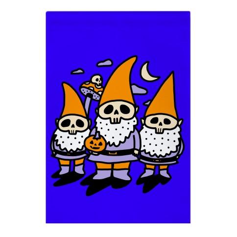 Happy Hall-Gnome-Ween (Halloween Gnomes) Garden Flag