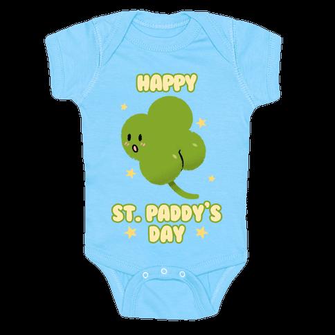 Happy St. Paddy's Day Shambutt Tee Tee Baby One-Piece