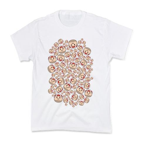 Stuffed Shrooms Pattern Kids T-Shirt