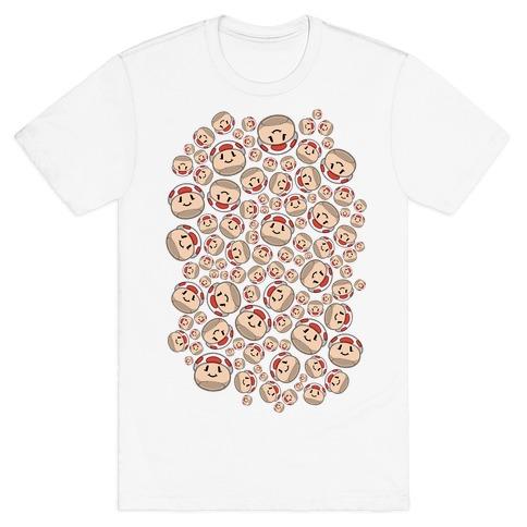 Stuffed Shrooms Pattern T-Shirt
