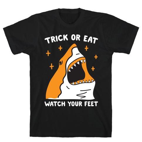 Trick Or Eat Shark Mens T-Shirt