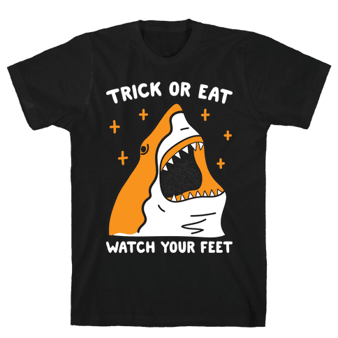 Trick Or Eat Shark Mens T-Shirt