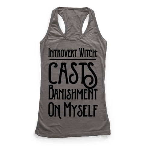 Introvert Witch Racerback Tank Top