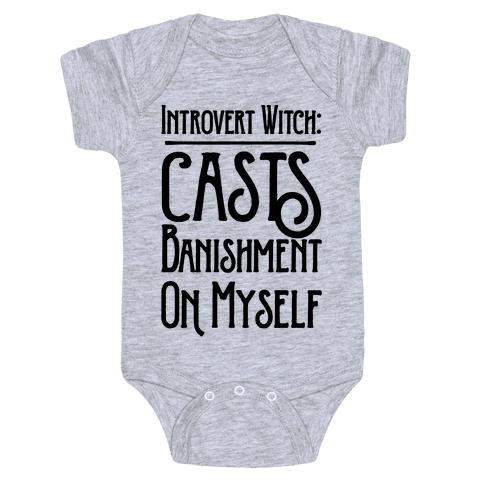 Introvert Witch Baby Onesy