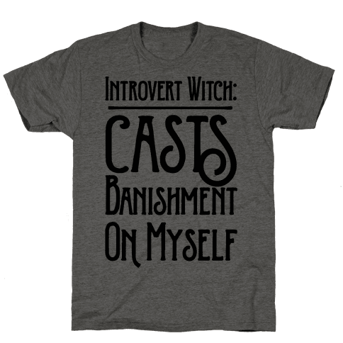 Introvert Witch Mens T-Shirt