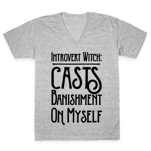 Introvert Witch V-Neck Tee Shirt