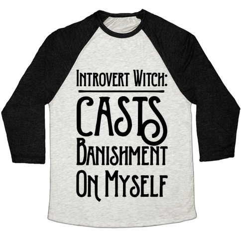 Introvert Witch Baseball Tee
