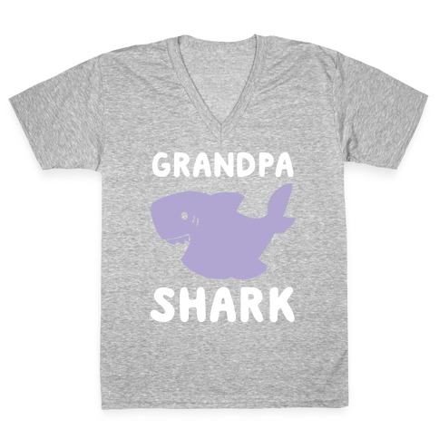 Grandpa Shark (1 of 5 set) V-Neck Tee Shirt