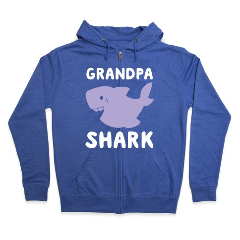 Grandpa Shark (1 of 5 set) Zip Hoodie