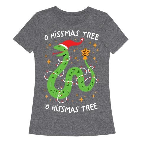 O Hissmas Tree Womens T-Shirt