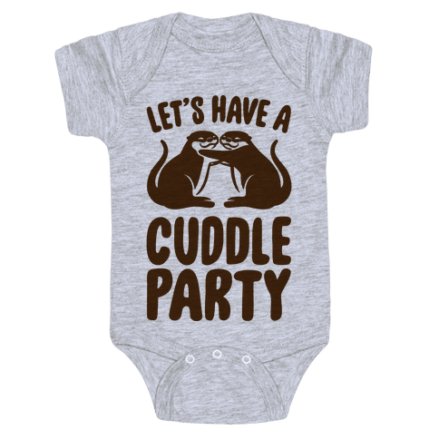 Let's Have A Cuddle Party Baby Onesy