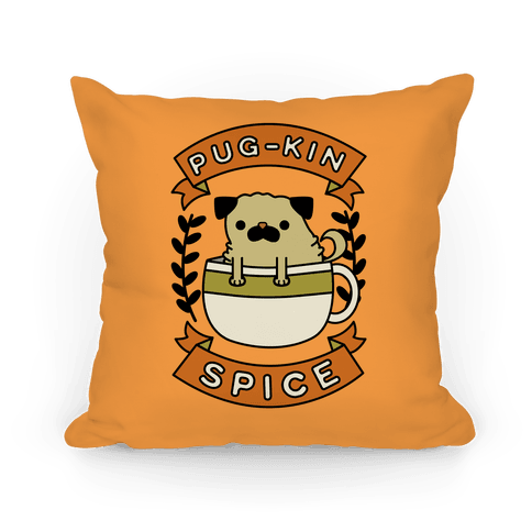 Pugkin Spice Pillow