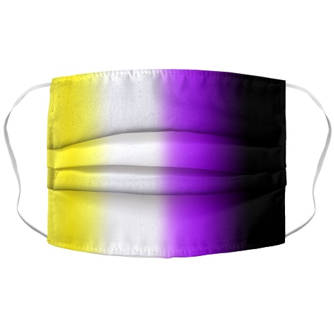 Nonbinary Gradient Accordion Face Mask