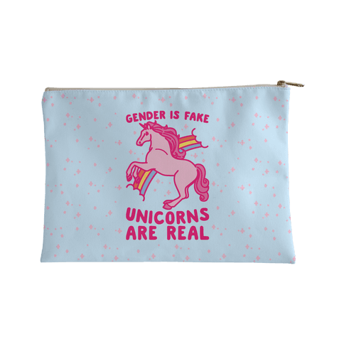 Gender Is Fake Unicorns Are Real Accessory Bag