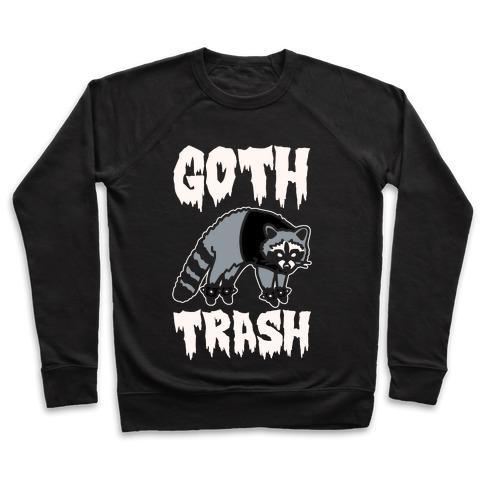 Goth Trash Raccoon White Print Pullover
