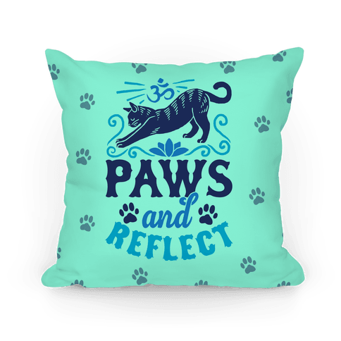 Paws And Reflect (Cat) Pillow