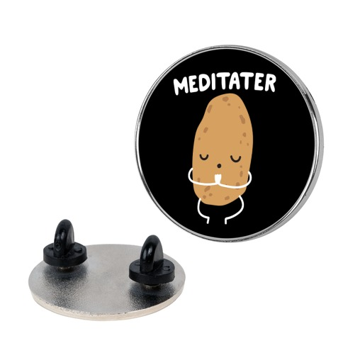 Meditater Meditating Potato Pin