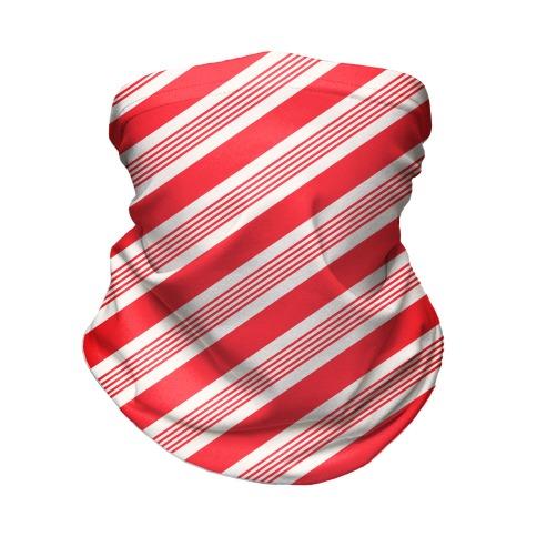 Candy Cane Stripe Pattern Neck Gaiter