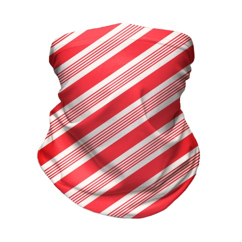 Candy Cane Stripe Pattern Neck Gaiter