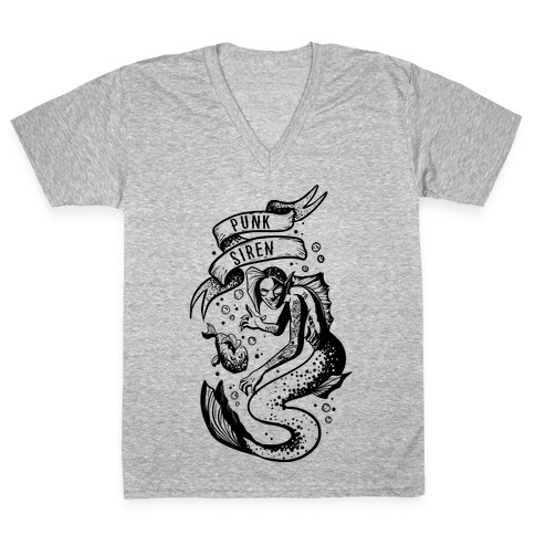 Punk Siren V-Neck Tee Shirt