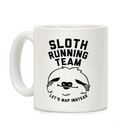Sloth Running Team Coffee Mug