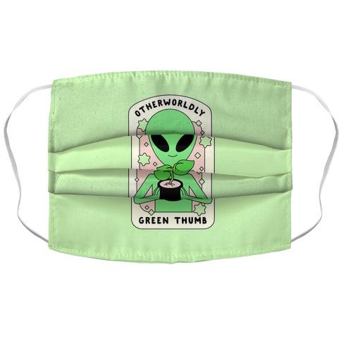 Otherworldly Green Thumb Accordion Face Mask