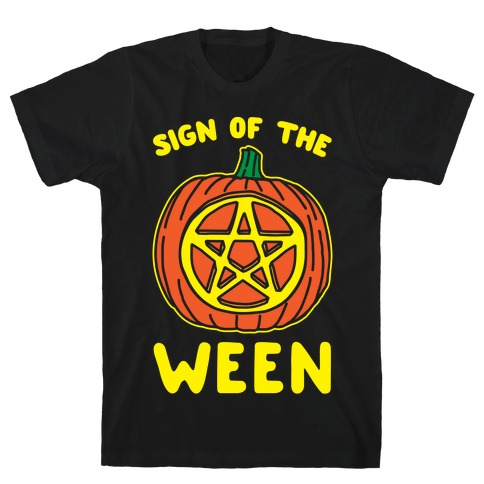 Sign of The Ween Halloween Parody White Print T-Shirt