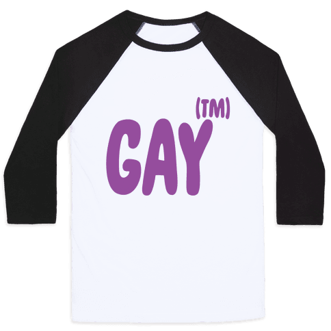 Gay (TM) Baseball Tee