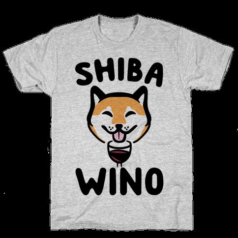 Shiba Wino  Mens T-Shirt