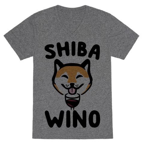 Shiba Wino V-Neck Tee Shirt