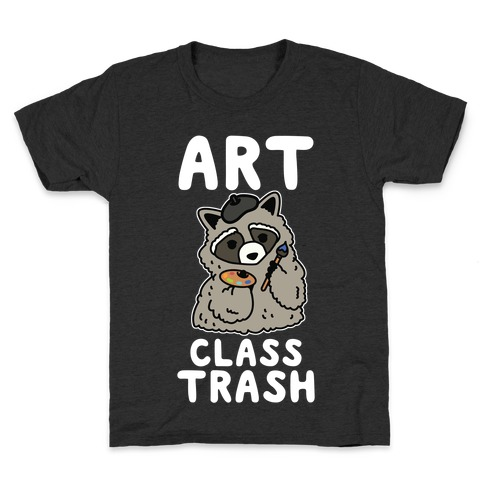Art Class Trash Raccoon Kids T-Shirt