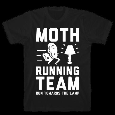 Moth Running Team Mens T-Shirt