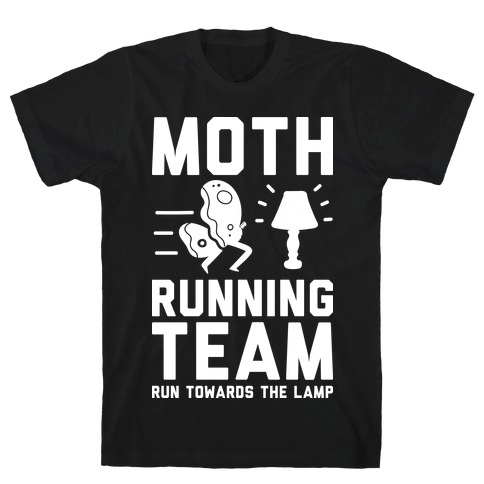 Moth Running Team Mens T-Shirt