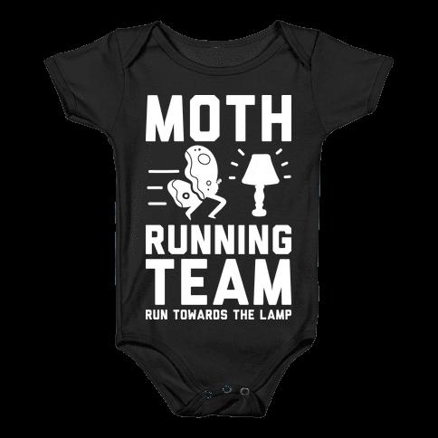 Moth Running Team Baby Onesy