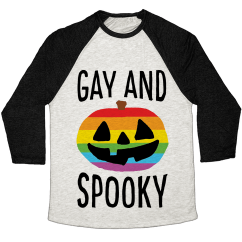 Gay And Spooky Baseball Tee