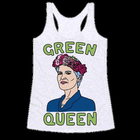 Green Queen Racerback Tank Top