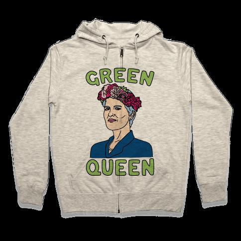 Green Queen Zip Hoodie